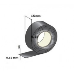 Rolo de Fita Isoladora Preta 25 mx 15 mmx 0,15 mm