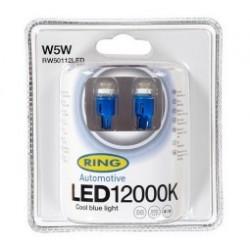 2 Lampadas 12V 1W Led Azul 12000K W5W