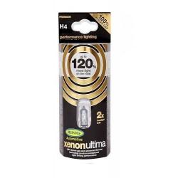 Xenon Ultima (2) 12 V 60 55 W H4  +120