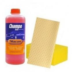 Pack Champo 1 lt  + Esponja   Camurca Sintetica