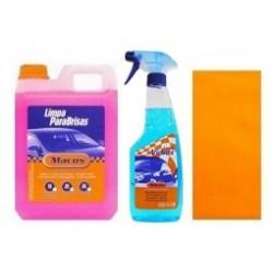 Pack Limpa Vidros 500 ml + Limpa Para-Brisas 2 lt  + Pano Po