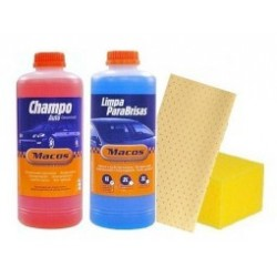 Pack Champo 1 lt + Limpa Brisas + Camurca Sintetica   Esponja